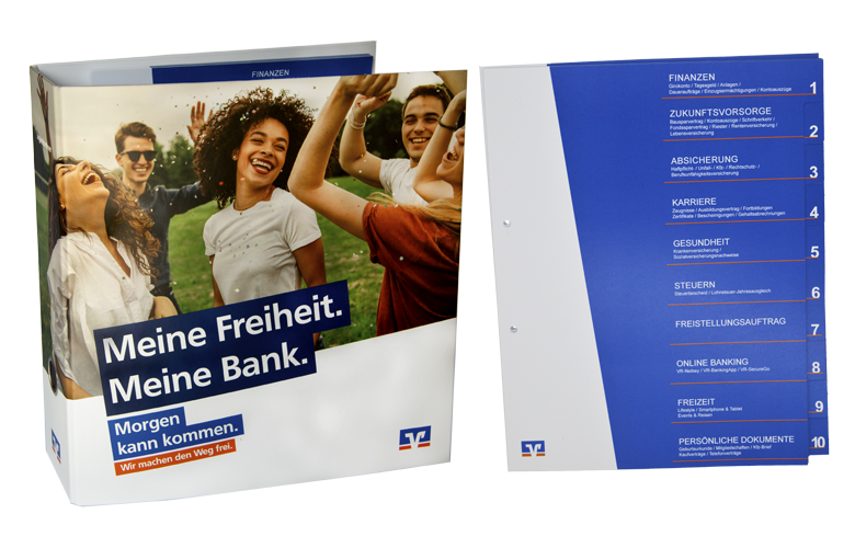 Ordner und Register Genossenschaftsbanken